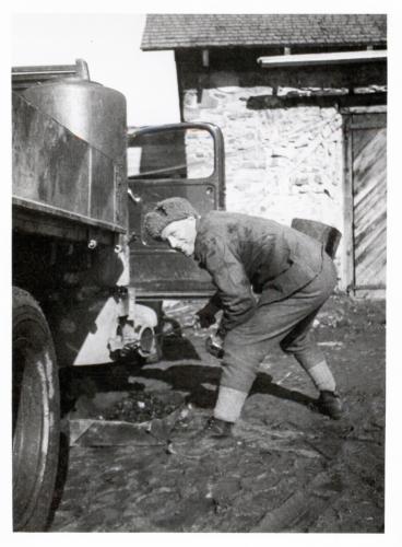 Taisto Valkama nuohoojana Äänislinnassa 1941