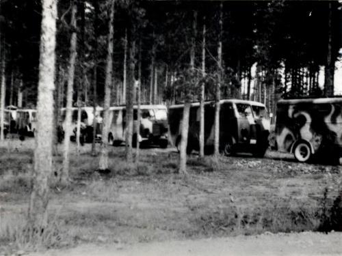 MO:n ajoneuvot 7.9.1941 marssivalmiina Immolasta Pitkärantaan