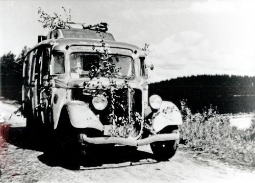 Vanhin radioauto Maija. 24.6.1944 Rukajärvi-Hammaslahti