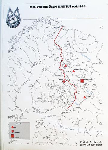 MO:n sijoituspaikat kesäkuussa 1944